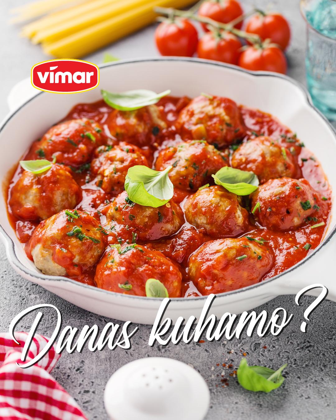Ćufte u paradajz sosu sa Vimar mljevenim mesom.