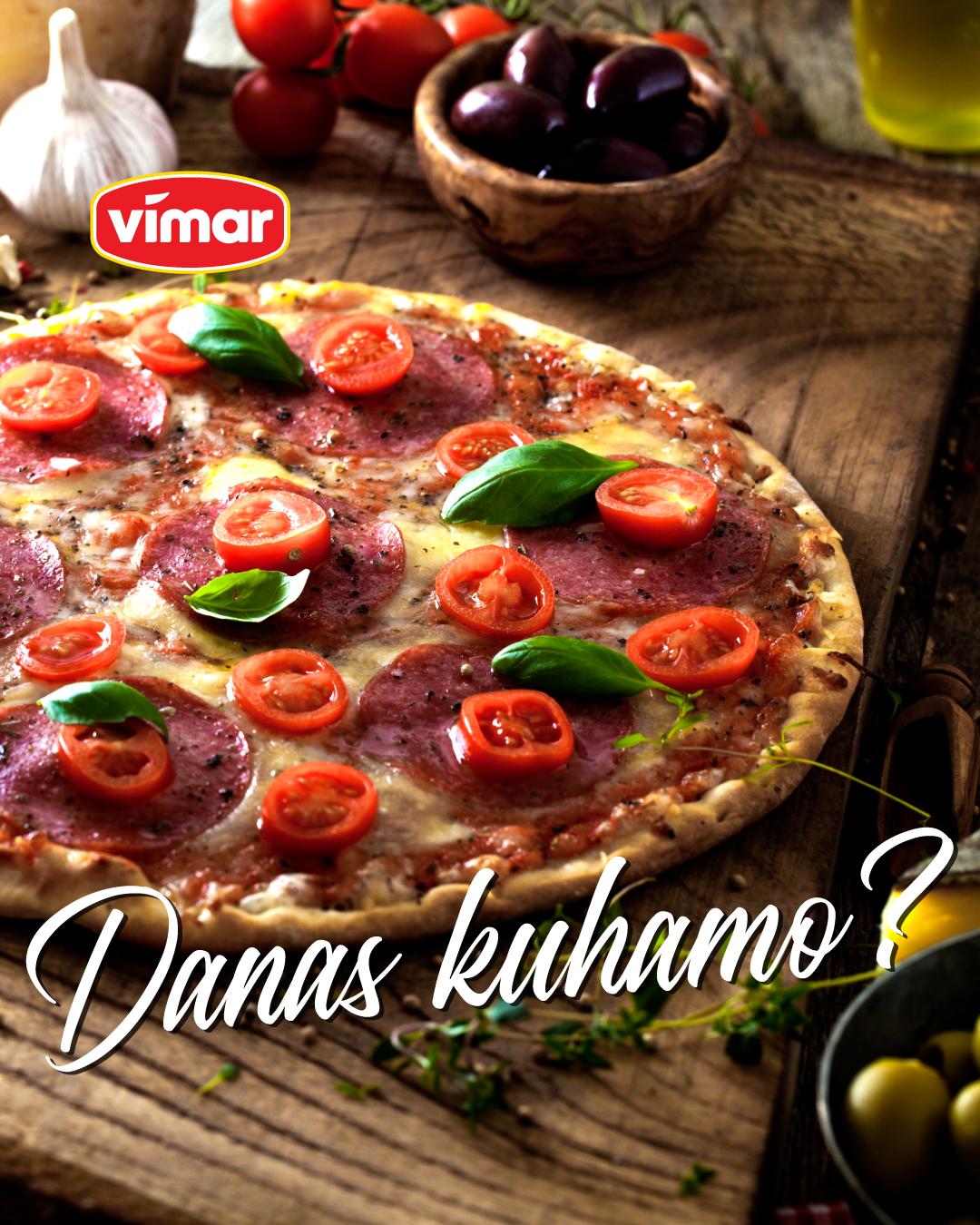 Pizza sa Vimar sudžukom.